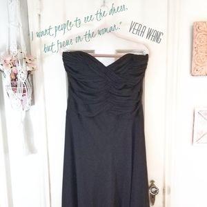 Vintage White House Black Market Strapless Dress